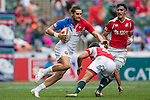 France vs Portugal during the HSBC Sevens Wold Series Bowl Quarter Finals match as part of the Cathay Pacific / HSBC Hong Kong Sevens at the Hong Kong Stadium on 29 March 2015 in Hong Kong, China. Photo by Xaume Olleros / Power Sport Images