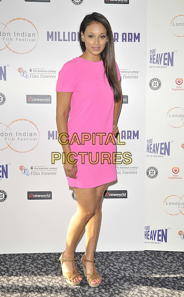 LONDON, ENGLAND - JULY 14: Seema Pathan attends the London Indian Film Festival &quot;Million Dollar Arm&quot; UK film premiere, Cineworld Shaftesbury Avenue cinema, Coventry St., on Monday July 14, 2014 in London, England, UK. <br /> CAP/CAN<br /> &copy;Can Nguyen/Capital Pictures