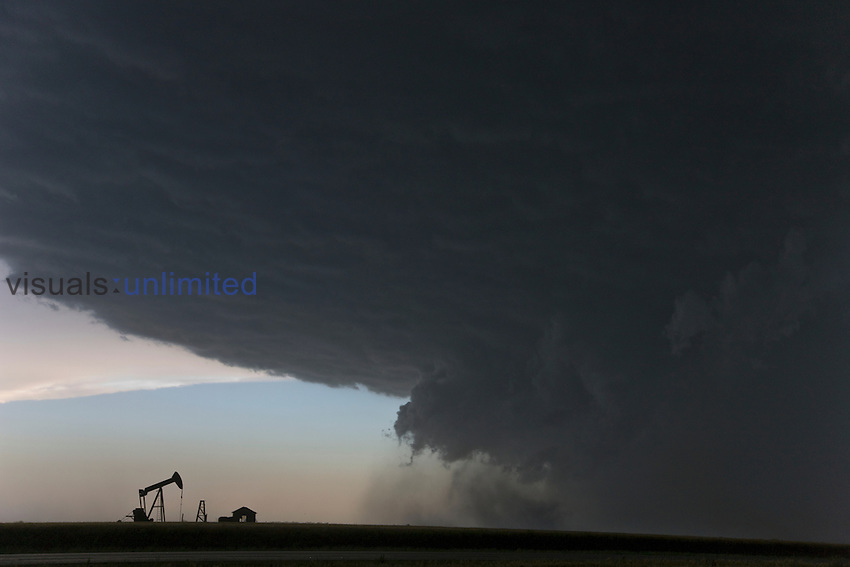 Outflow from a supercell in southwestern Kansas, USA.