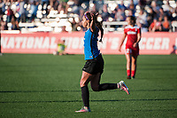 Kansas City, MO - Saturday May 27, 2017: Sydney Leroux celebrates during a regular season National Women's Soccer League (NWSL) match between FC Kansas City and the Washington Spirit at Children's Mercy Victory Field.
