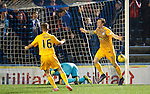Greenock Morton v St Johnstone...27.10.15  League Cup Quarter Final, Cappielow...<br /> Denny Johnstone celebrates putting Morton 1-0 up<br /> Picture by Graeme Hart.<br /> Copyright Perthshire Picture Agency<br /> Tel: 01738 623350  Mobile: 07990 594431