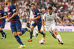 Real Madrid's Dani Ceballos and FC Barcelona's Sergi Roberto during Supercup of Spain 2nd match at Santiago Bernabeu Stadium in Madrid, Spain August 16, 2017. (ALTERPHOTOS/Borja B.Hojas)