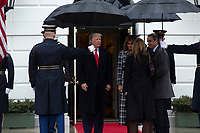 United States President Donald J. Trump and First lady Melania Trump greet the Prime Minister of Greece Kyriakos Mitsotakis and his wife Mareva Grabowski outside of the White House in Washington, D.C., U.S., on Tuesday, January 7, 2020.<br /> <br /> Credit: Stefani Reynolds / CNP/AdMedia