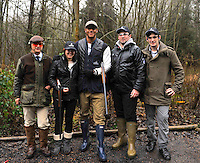 Clay pigeon shooting session with London Wasps player  Tom Varndell  at E.J.Churchill Shooting Ground, Park Lane, Lane End, High Wycombe, Buckinghamshire, England on December 20, 2012.