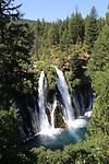 Burney Falls.  Postcard edit by Frank Balthis