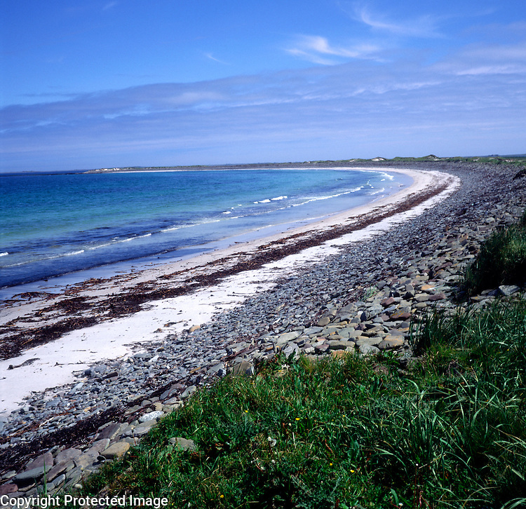 Quiet beach on the island of Sanday, Orkney islands. Scotland, UK