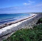 Quiet beach on the island of Sanday, Orkney islands. Scotland, UK