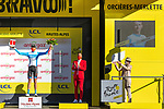 Krists Neilands (LAT) Israel Start-Up Nation wins the day's combativity award at the end of Stage 4 of Tour de France 2020, running 160.5km from Sisteron to Orcieres-Merlette, France. 1st September 2020.<br /> Picture: ASO/Herve Tarrieu | Cyclefile<br /> All photos usage must carry mandatory copyright credit (© Cyclefile | ASO/Herve Tarrieu)