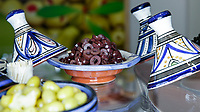 NEW YORK, NY - JUNE 25: Olives are seen at a stand during the Summer Fancy Food Show at the Javits Center in the borough of Manhattan on June 23, 2019 in New York, The Summer Fancy Food Show is the largest and biggest specialty food industry event in the continent (Photo by Kena Betancur/VIEWpress/Corbis via Getty Image