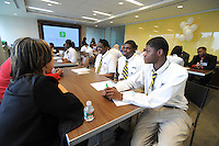 PHILADELPHIA, PA - MAY 17:  Students from KIPP DuBois Collegiate Academy visited the Fox Rothschild law firm as part of an educational law program May 17, 2011 in Philadelphia, Pennsylvania. About 25 students participated in the program, which is part of the NALP/Street Law Legal Diversity Pipeline Program, and promotes diversity in the legal profession. (Photo by William Thomas Cain/cainimages.com for Fox Rothschild)