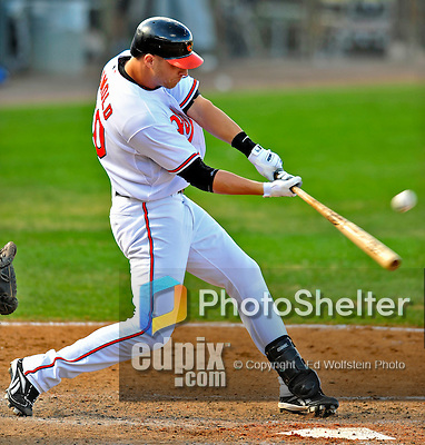 6 March 2009: Baltimore Orioles' outfielder Noland Reimold at bat during a Spring Training game against the Washington Nationals at Fort Lauderdale Stadium in Fort Lauderdale, Florida. The Orioles defeated the Nationals 6-2 in the Grapefruit League matchup. Mandatory Photo Credit: Ed Wolfstein Photo
