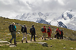 Climbers near the Matterhorn above Zermatt, Switzerland, .  John leads hiking and photo tours throughout Colorado.