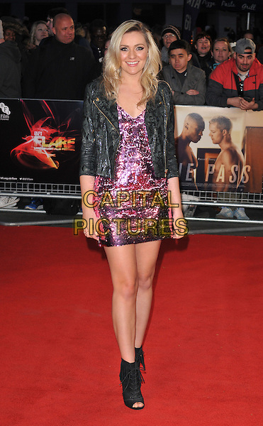 Larissa Eddie attends the &quot;The Pass&quot; opening night world premiere, BFI Flare London LGBT Film Festival 2016, Odeon Leicester Square cinema, Leicester Square, London, UK, on Wednesday 16 March 2016.<br /> CAP/CAN<br /> &copy;CAN/Capital Pictures