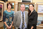 Organiser, Kate Fitzpatrick with Mayor Paul Bell and Principal Edel Ní Bhroin at the Art Exhibition in Scoil Aonghusa..(Photo credit should read Jenny Matthews www.newsfile.ie)....This Picture has been sent you under the conditions enclosed by:.Newsfile Ltd..The Studio,.Millmount Abbey,.Drogheda,.Co Meath..Ireland..Tel: +353(0)41-9871240.Fax: +353(0)41-9871260.GSM: +353(0)86-2500958.email: pictures@newsfile.ie.www.newsfile.ie.