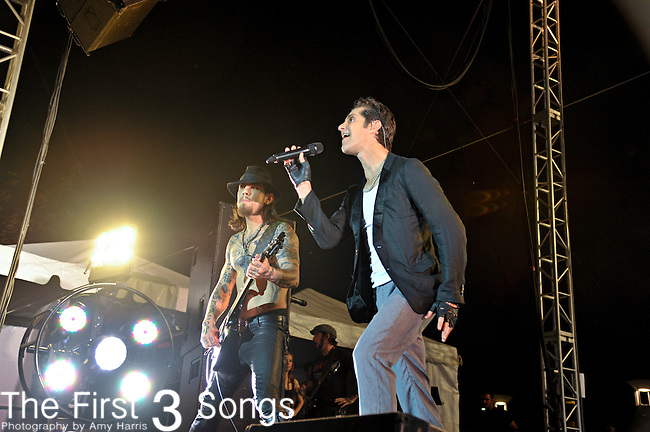Perry Farrell and Dave Navarro of Jane's Addiction perform at the Bunbury Music Festival in Cincinnati, OH on June 13, 2012.