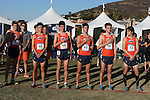 November 2, 2013; Malibu, CA, USA; Pepperdine cross country team during the WCC Cross Country Championship at Alumni Park.