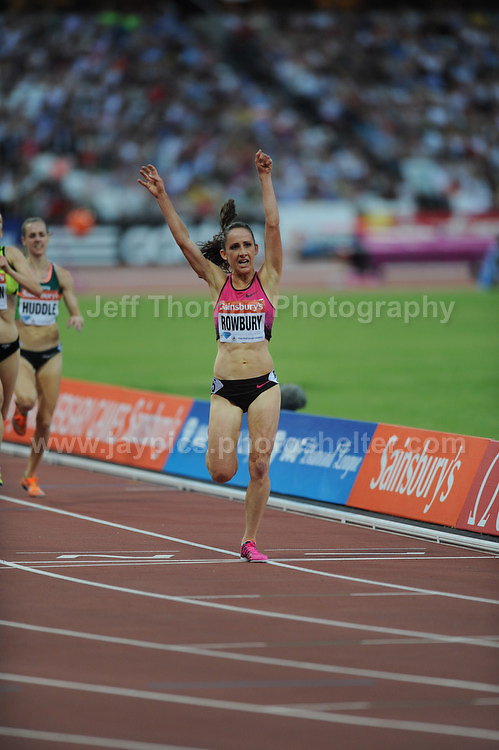 Shannon Rowbury of the USA winning the Womens 3000m race at the  Sainsbury Anniversary Games, Olympic Stadium, London England, Friday 26th July 2013-Copyright owned by Jeff Thomas Photography-www.jaypics.photoshelter.com-07837 386244. No pictures must be copied or downloaded without the authorisation of the copyright owner.