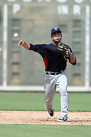 Minnesota Twins shortstop Rafael Valera (52) during an Instructional League game against the Boston Red Sox on September 26, 2014 at jetBlue Park at Fenway South in Fort Myers, Florida.  (Mike Janes/Four Seam Images)