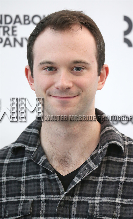 Luke Smith attends the cast photo call for 'Significant Other' at the Roundabout Theatre rehearsal hall on April 24, 2015 in New York City.