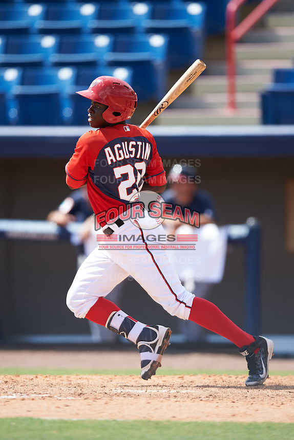 Washington Nationals Telmito Agustin (20) during an Instructional League game against the Atlanta Braves on September 30, 2016 at Space Coast Stadium in Melbourne, Florida.  (Mike Janes/Four Seam Images)