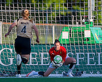 FC Gold Pride goalkeeper Nicole Barnhart (1) makes a save against St. louis Athletica during a WPS match at Korte Stadium, in St. Louis, MO, May 9 2009.  St. Louis won the match 1-0.