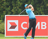 Sergio Garcia (ESP) on the 8th tee during Round 3 of the CIMB Classic in the Kuala Lumpur Golf & Country Club on Saturday 1st November 2014.<br /> Picture:  Thos Caffrey / www.golffile.ie