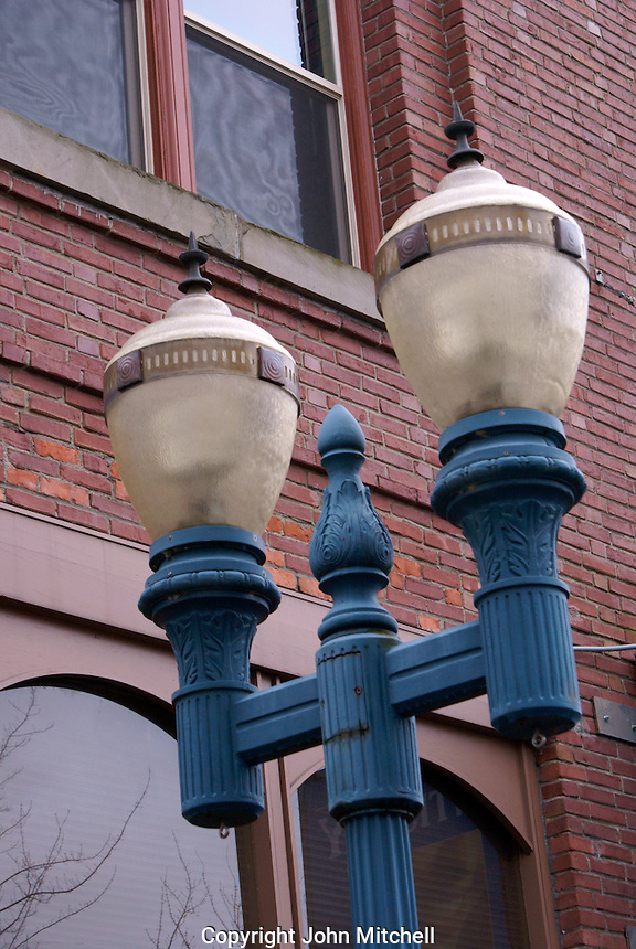 Lamp post in downtown Bellingham, Washington, USA....