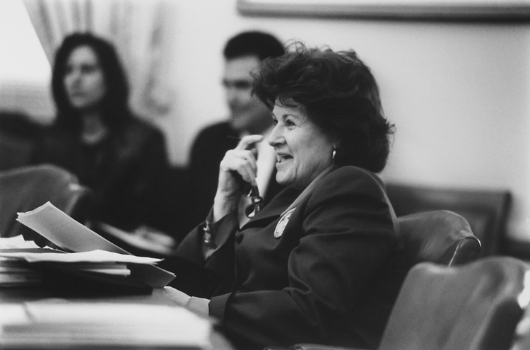 Rep. Louise Slaughter, D-N.Y., at the Rules/ Joint Committee on the Organization of Congress, on March 9, 1994. (Photo by Chris Martin/CQ Roll Call via Getty Images)