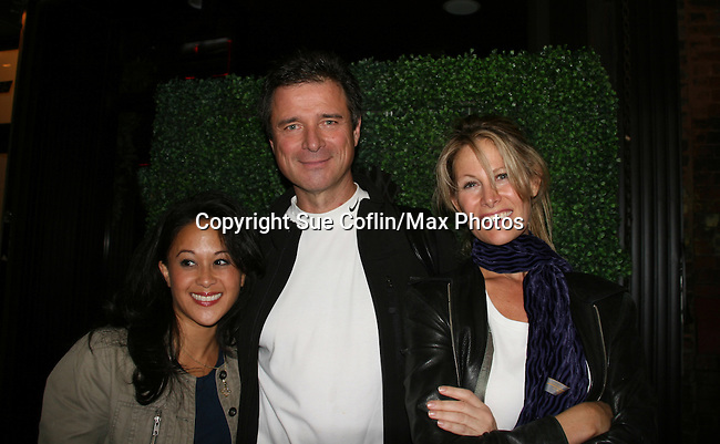 Veronica Reyes, James DePaiva and Jodi Stevens (wife of Scott Bryce) as they star in Under Fire, the musical - a part of the New York Musical Theatre Festival on October 4, 2009 at The Theatre of St. Clements, New York City, New York. (Photo by Sue Coflin/Max Photos)