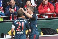 Torjubel Bastian Schweinsteiger (Bayern) beim 0:1 - 1. FSV Mainz 05 vs. FC Bayern München, Coface Arena, 26. Spieltag