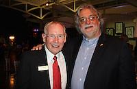 NWA Democrat-Gazette/CARIN SCHOPPMEYER Ed Clifford, Jones Center CEO (left) and Archie Schaffer III stand for a photo at Big Night.