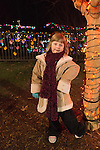 Maggie holiday lights, Dominion GardenFest of Lights at Lewis Ginter Botanical Garden in Richmond, Virginia, USA