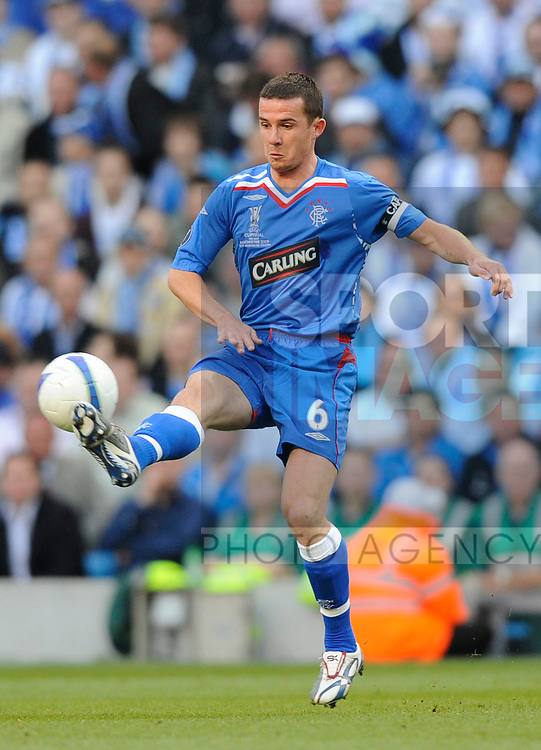 Barry Ferguson of Rangers during the Europa League Final match at The Etihad Stadium, Manchester. Picture date 14th May 2008. Picture credit should read: Simon Bellis/Sportimage