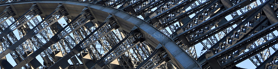 Close up of the Sydney Habour Bridge.