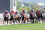 Jockeys competing during the Race 6 Queen Mother Memorial Cup (G3 2400m) during the Audemars Piguet Queen Elizabeth II Cup Day at Sha Tin Racecourse on April 30, 2017 in Hong Kong, China. (Photo by Marcio Rodrigo Machado / Power Sport Images)