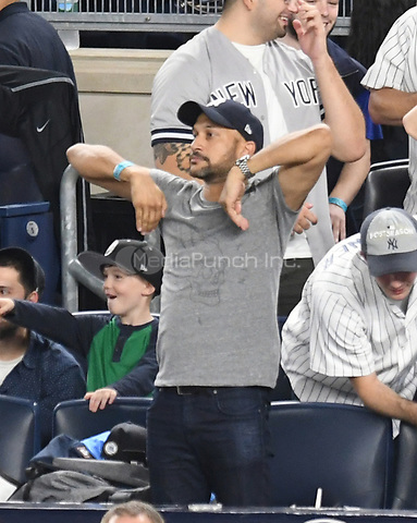 NEW YORK, NY - October 8 : Keegan-Michael Key at Yankee Stadium during game 3 of the ALDS on October 8,2017 Bronx New York . @John Palmer / Media Punch