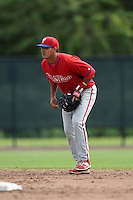 Philadelphia Phillies Emmanuel Marrero (16) during a minor league spring training intrasquad game on March 27, 2015 at the Carpenter Complex in Clearwater, Florida.  (Mike Janes/Four Seam Images)