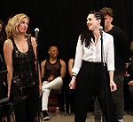 """Erin Mosher and Lena Hall during Jim Steinman's """"Bat Out of Hell - The Musical"""" - Open Rehearsal at New York City Center on July 30, 2019 in New York City."""