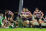 Fritz Lee heads upfield. ITM Cup rugby game between Counties Manukau and Manawatu played at Bayer Growers Stadium on Saturday August 21st 2010..Counties Manukau won 35 - 14 after leading 14 - 7 at halftime.