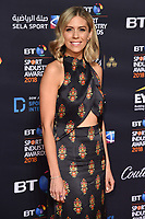 Nicki Sheilds<br /> arriving for the BT Sport Industry Awards 2018 at the Battersea Evolution, London<br /> <br /> ©Ash Knotek  D3399  26/04/2018
