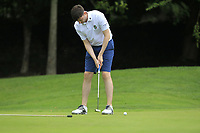 Jason Tobin (Castletroy) on the 1st green during the AIG Barton Shield Munster Final 2018 at Thurles Golf Club, Thurles, Co. Tipperary on Sunday 19th August 2018.<br /> Picture:  Thos Caffrey / www.golffile.ie<br /> <br /> All photo usage must carry mandatory copyright credit (© Golffile   Thos Caffrey)