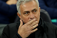26th November 2019; Tottenham Hotspur Stadium, London, England; UEFA Champions League Football, Tottenham Hotspur versus Olympiacos; Tottenham Hotspur Manager Jose Mourinho ponders a change to personnel - Editorial Use