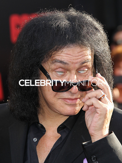 """HOLLYWOOD, LOS ANGELES, CA, USA - MAY 08: Gene Simmons at the Los Angeles Premiere Of Warner Bros. Pictures And Legendary Pictures' """"Godzilla"""" held at Dolby Theatre on May 8, 2014 in Hollywood, Los Angeles, California, United States. (Photo by Xavier Collin/Celebrity Monitor)"""