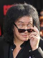 "HOLLYWOOD, LOS ANGELES, CA, USA - MAY 08: Gene Simmons at the Los Angeles Premiere Of Warner Bros. Pictures And Legendary Pictures' ""Godzilla"" held at Dolby Theatre on May 8, 2014 in Hollywood, Los Angeles, California, United States. (Photo by Xavier Collin/Celebrity Monitor)"