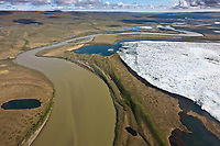 Creek that drains into the Colville river, arctic, Alaska.