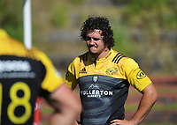 Bevan Flanders. Hurricanes rugby union training at Rugby League Park in Wellington, New Zealand on Wednesday, 24 January 2018. Photo: Dave Lintott / lintottphoto.co.nz