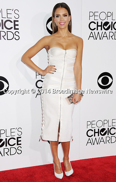 Pictured: Jessica Alba<br /> Mandatory Credit &copy; Gilbert Flores /Broadimage<br /> 2014 People's Choice Awards <br /> <br /> 1/8/14, Los Angeles, California, United States of America<br /> Reference: 010814_GFLA_BDG_147<br /> <br /> Broadimage Newswire<br /> Los Angeles 1+  (310) 301-1027<br /> New York      1+  (646) 827-9134<br /> sales@broadimage.com<br /> http://www.broadimage.com