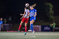 Boston, MA - Friday July 07, 2017: Christen Press and Megan Oyster during a regular season National Women's Soccer League (NWSL) match between the Boston Breakers and the Chicago Red Stars at Jordan Field.