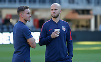 WASHINGTON D.C. - OCTOBER 11: Tyler Boyd #21 and Michael Bradley #4 of the United States during warm ups prior to their Nations League game versus Cuba at Audi Field, on October 11, 2019 in Washington D.C.