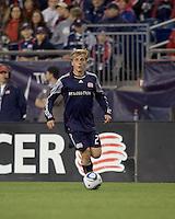 New England Revolution defender Seth Sinovic (27) brings the ball forward. The Colorado Rapids defeated the New England Revolution, 2-1, at Gillette Stadium on April 24, 2010.